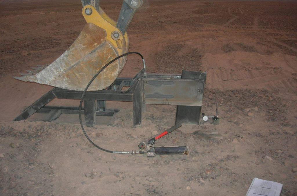 Ramming tests in the Atacama Desert, Chile