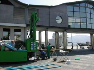 Water capture in port area