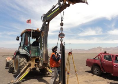 Copiapo, Chile: ramming pole test