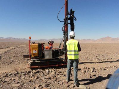 Copiapó, Chile: pruebas hincado ramming pole test