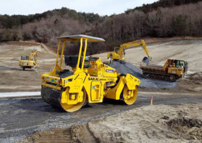 Fukuroda, Japan: embankment work for track-laying
