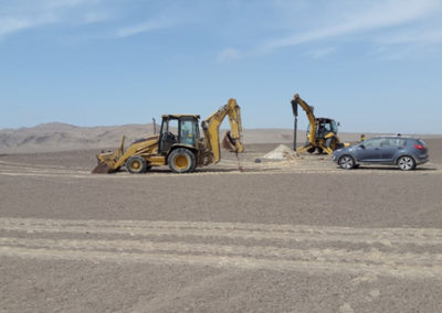 Ica, Peru: ramming test for photovoltaic solar plant