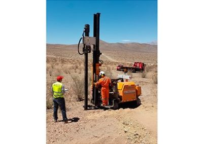 Copiapo, Chile: ramming test for 4 solar plants
