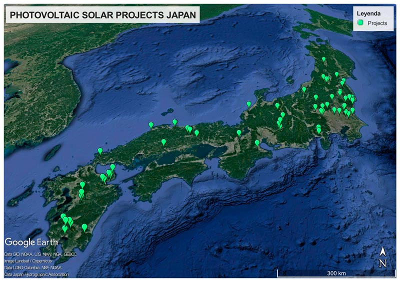 PHOTOVOLTAIC SOLAR PROJECTS JAPAN