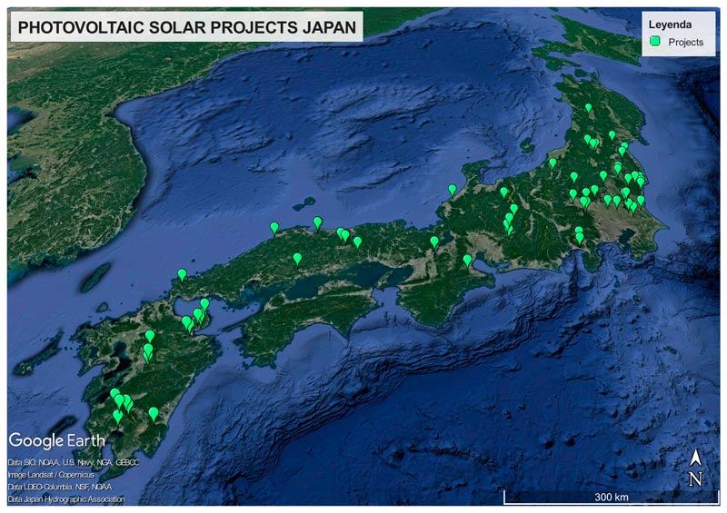 Japón: proyectos de energía solar fotovoltaica