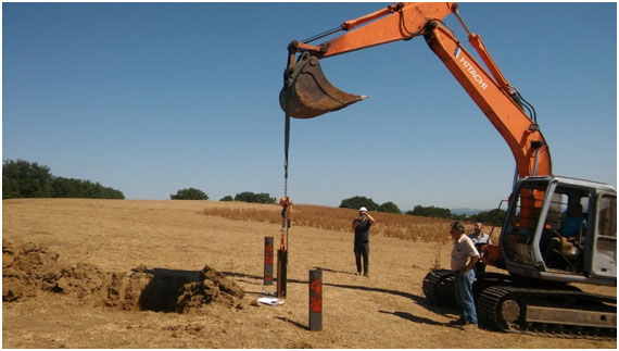 RAMMING POLE TEST FOR A PHOTOVOLTAIC SOLAR PLANT IN ROME (ITALY)