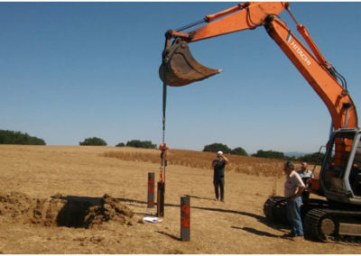 Roma, Italia: hincado ramming pole test para planta solar
