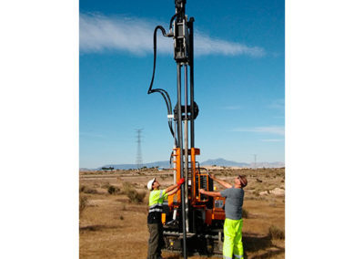 Murcia: ramming test for photovoltaic solar plant